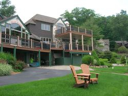 Two Story Full Length Trex Deck & Railing 11