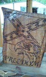 Confederate flag and eagle