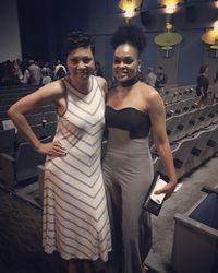 Chanel Nicole Scott and Demetria McKinney attends 'Bad Dad Rehab' Atlanta screening at Midtown Art Cinema Theatre