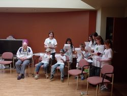 Singing at Simpson Manor