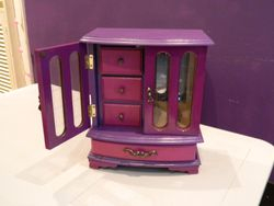 Purples with drawers inside