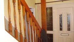 Oak woodstain Stair rails