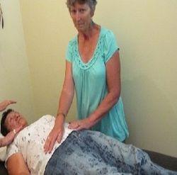 Client receiving healing