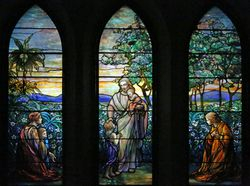 Tiiffany, Christ and the Children, St Johns Church, Franklin, PA