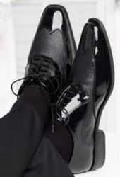 Classic Black Wing Tips