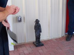 Fireman statue
