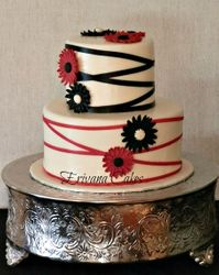 Red and Balck Wedding cake