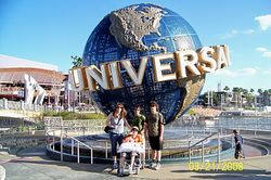 Having fun at Universal in Florida