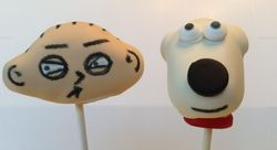 Stewie and Brian Cake Pops
