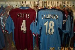 1997/98 worn Steve Potts and Frank Lampard shirts
