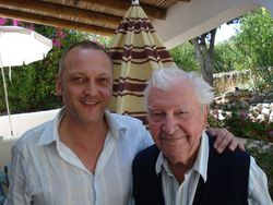With Clive Dunn (2)