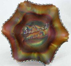 Ballard Merced, Cal., ruffled bowl, amethyst