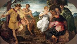 Tintoretto, Musical Contest Between Apollo and Pan, c. 1545, Hartford