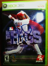 Albert Pujols Autographed XBox 360 Cover