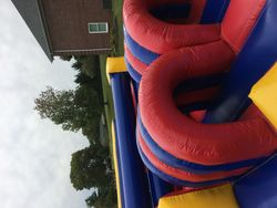 51' Obstacle Racer with 15' Dual Lane Slide