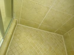 Applied silicone and grout
