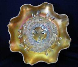"""Acorn 7"""" ruffled bowl - peach opal"""
