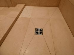 Limestone wet room tray
