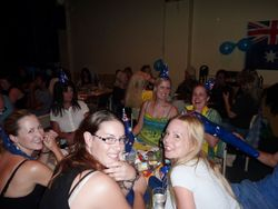 One of the happy tables at the Quiz Night