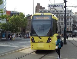 #3003 departing Piccadilly Gardens