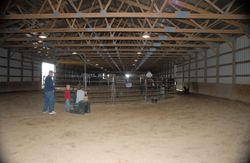 Round Pen is at one end of Indoor
