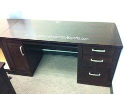 Sauder credenza desk installation service in Washington DC