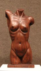 TORSO IN WALNUT