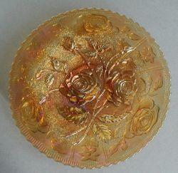 Open Rose plate, marigold