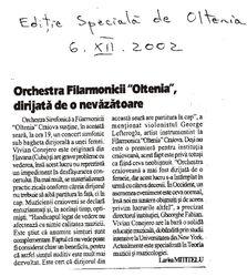 Newspaper article, Craiova, Romania