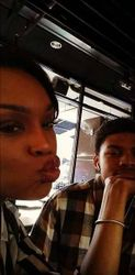 Demetria McKinney & Mini Me Grabbing A Bite To Eat!