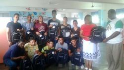 School for Deaf Receiving backpacks