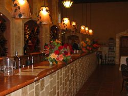 The tasting bar in the winery