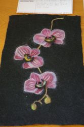 Susan Stougie's gorgeous felted orchids