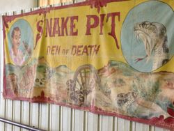 Vintage Snake PIt and Den of Death Tapestry
