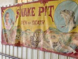Vintage Snake PIt and Den of Death Tapestry