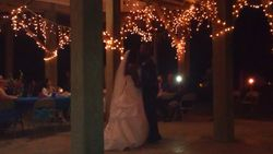 First dance as husband and wife under the beach house