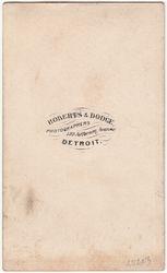 Roberts & Dodge, photographers of Detroit, MI - back