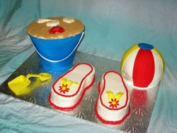 3D Beach Cake