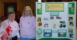 Carol and Patty welcome visitors at the Eagles Craft Show