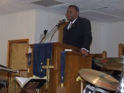 Pastor P.L. Griffin Closing an Academic Ceremony