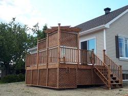 balcon en bois traité east angus