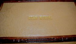 "STAN MUSIAL'S Own Leather Embossed Leather Box 7'x3""x2"""