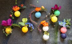 Ping Pong Ball Corsages