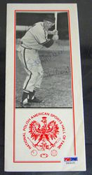 Stan Musial Signed National Polish-American Hall Of Fame Pamphlet PSA/DNA Auto