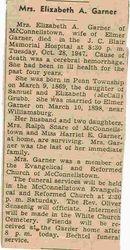 Garner, Elizabeth A. Grubb 1947