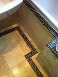 Bath edge and flooring.