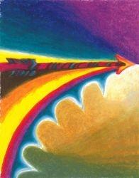 Arrow of Purpose, Oil Pastel, 11x14, Original Sold