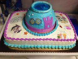 Fairly Odd Parents Fish Bowl Cake