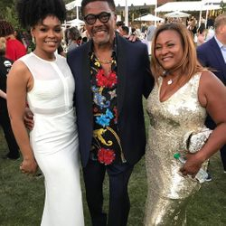 Demetria McKinney and Judge Mathis attend Design Care