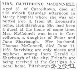 McConnell, Catherine Sharbaugh 1952